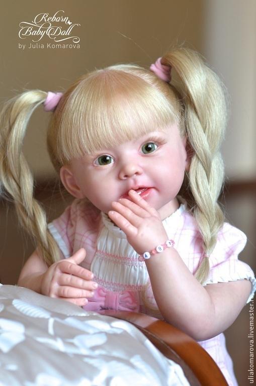 Куклы-младенцы и reborn ручной работы. Ярмарка Мастеров - ручная работа. Купить Бонни. Handmade. Бежевый, стеклянные глазки
