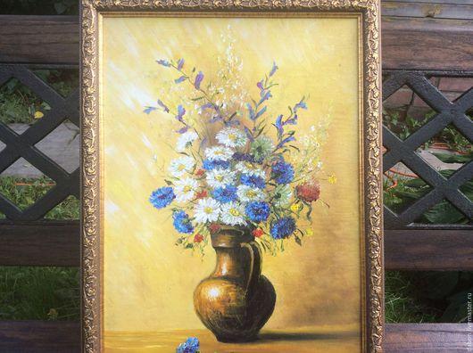 Картины цветов ручной работы. Ярмарка Мастеров - ручная работа. Купить Картина маслом в подарок  Летний букет. Handmade. Комбинированный