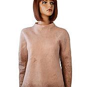 Одежда handmade. Livemaster - original item Warm felted jacket,tunic,pullover made from Merino wool. Handmade.