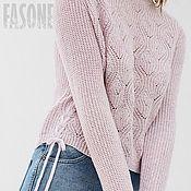 """Одежда ручной работы. Ярмарка Мастеров - ручная работа Свитер сиреневый """"Лавандовое поле"""" Сиреневый свитер Сиреневый свитер. Handmade."""