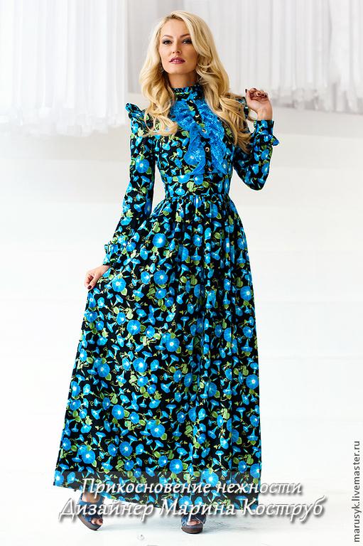 Платья ручной работы. Ярмарка Мастеров - ручная работа. Купить Платье ПНС-6. Handmade. Синий, платье вечернее