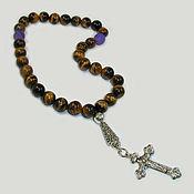 handmade. Livemaster - original item Orthodox prayer beads from tiger eye
