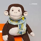 Куклы и игрушки ручной работы. Ярмарка Мастеров - ручная работа Обезьянка Марти - Символ 2016 года. Handmade.