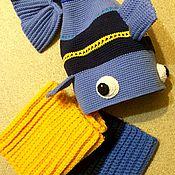 """Работы для детей, ручной работы. Ярмарка Мастеров - ручная работа Комплект детский вязаный """"Рыба"""". Handmade."""