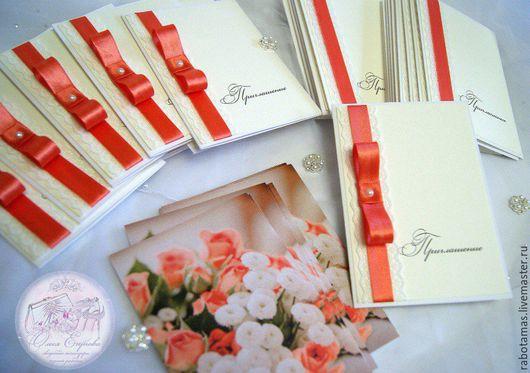 Свадебные открытки ручной работы. Ярмарка Мастеров - ручная работа. Купить Свадебные пригласительные. Handmade. Комбинированный, свадебные украшения, кружево