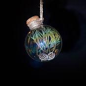 """Подарки к праздникам ручной работы. Ярмарка Мастеров - ручная работа Зачарованный Ёлочный шар """"Вечнозелёный"""", уникальный подарок. Handmade."""