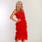 Одежда handmade. Livemaster - original item evening red dress. Handmade.