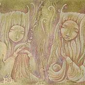 Картины и панно ручной работы. Ярмарка Мастеров - ручная работа Сказки мшистого болотца. Две Сестры  Картина фэнтези. Handmade.