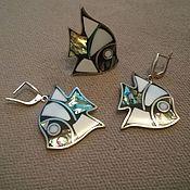"""Комплекты украшений ручной работы. Ярмарка Мастеров - ручная работа Комплект """"Маленькая рыбка"""". Handmade."""