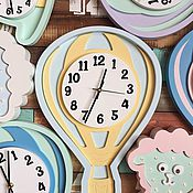 Для дома и интерьера ручной работы. Ярмарка Мастеров - ручная работа Детские настенные часы Воздушный шар. Handmade.