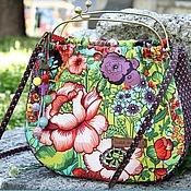 Сумки и аксессуары handmade. Livemaster - original item There on unknown tracks..)) bag bag summer flowers blue red. Handmade.