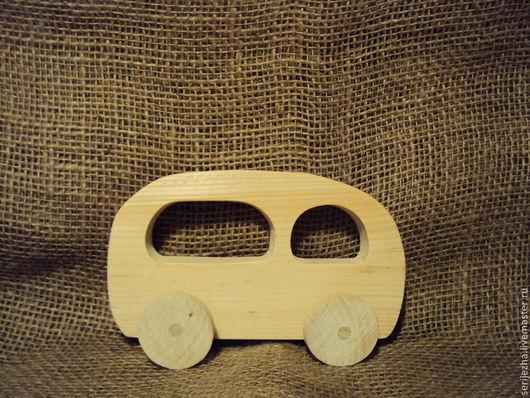 Автобус, деревянная игрушка ручной работы