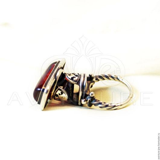 Кольца ручной работы. Ярмарка Мастеров - ручная работа. Купить Кольцо серебро Гироскоп. Handmade. Ярко-красный, необычное кольцо