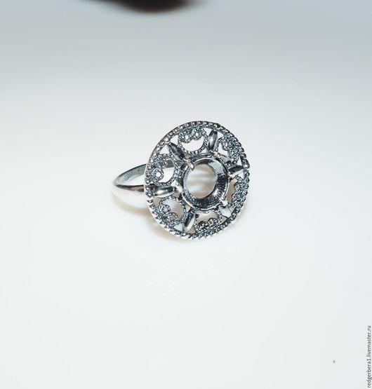 """Для украшений ручной работы. Ярмарка Мастеров - ручная работа. Купить Основа для кольца """"Ирма"""" - серебрение 925 пробы. Handmade."""