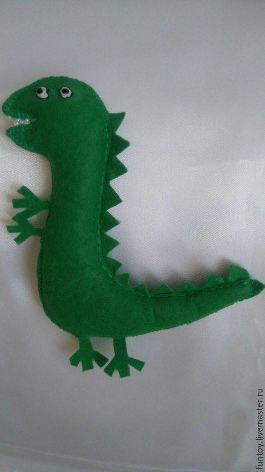 Игрушки животные, ручной работы. Ярмарка Мастеров - ручная работа. Купить Мистер Динозавр. Handmade. Ярко-зелёный, свинка пеппа