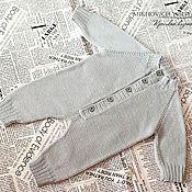 Работы для детей, ручной работы. Ярмарка Мастеров - ручная работа Вязаный комбинезон для новорожденного. Handmade.