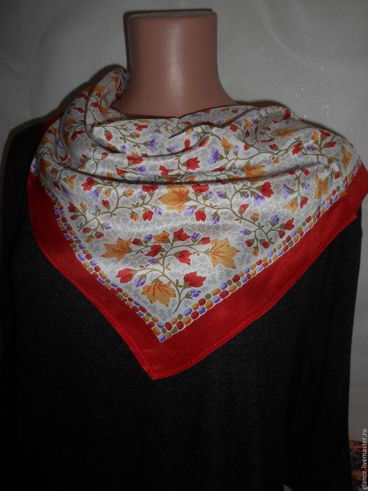 """Шитье ручной работы. Ярмарка Мастеров - ручная работа. Купить """"Тополиный пух"""" платок шелковый. Handmade. Платок, платок на голову"""