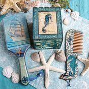 Сувениры и подарки ручной работы. Ярмарка Мастеров - ручная работа Морской набор  расчесок. Handmade.