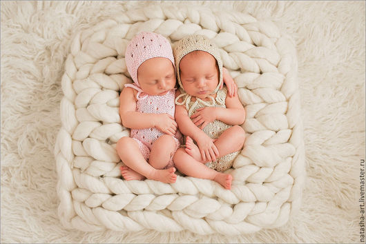 Для новорожденных, ручной работы. Ярмарка Мастеров - ручная работа. Купить Комплекты для фотосессии новорожденных - шапочка и комбинезон. Handmade. Для новорожденных