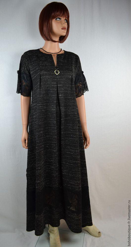 """Большие размеры ручной работы. Ярмарка Мастеров - ручная работа. Купить Красивое черное   платье """"Je suis belle"""" продано. Handmade."""