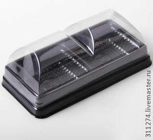 Упаковка ручной работы. Ярмарка Мастеров - ручная работа. Купить Коробка пластиковая.. Handmade. Черный, коробочка для подарка, коробка для мыла