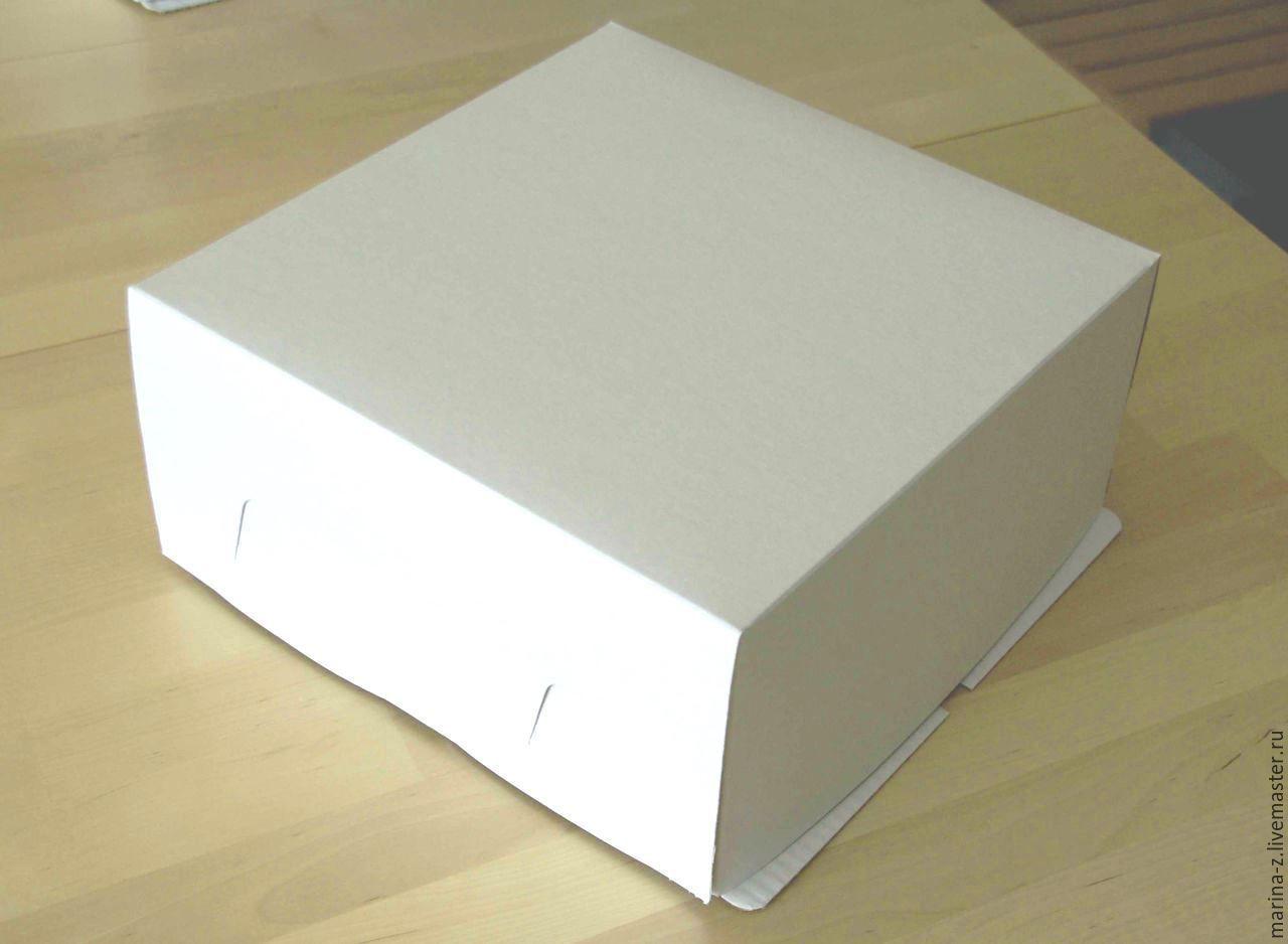 Купить Коробка для торта 30х30х19 - белый, коробка, для торта, упаковка для торта, коробка для торта, картон