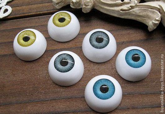 """Куклы и игрушки ручной работы. Ярмарка Мастеров - ручная работа. Купить 20мм Глаза кукольные (голубые) 2шт. """"3195"""". Handmade."""