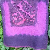 Одежда ручной работы. Ярмарка Мастеров - ручная работа туника войлочная   Абстракция Ежевичная чешуйчатая. Handmade.