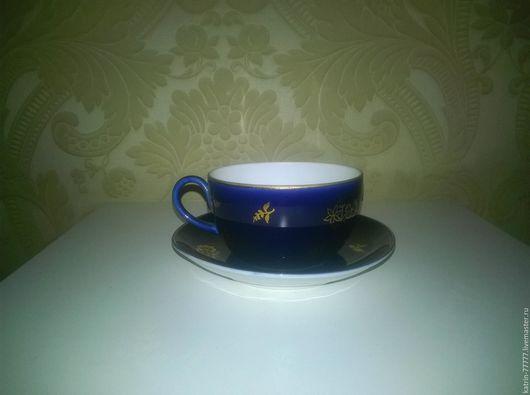 Винтажная посуда. Ярмарка Мастеров - ручная работа. Купить Чайная пара.Кобальт.ЛФЗ.. Handmade. Комбинированный, для чаепития
