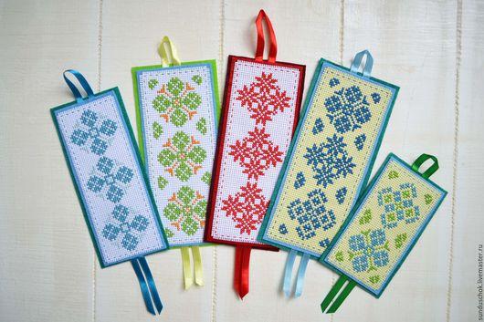 Закладки для книг ручной работы. Ярмарка Мастеров - ручная работа. Купить Закладки для книг, вышитые крестиком (5 видов). Handmade.