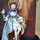 Коллекционные куклы ручной работы. Ярмарка Мастеров - ручная работа. Купить Кукла, полимерная глина, Цветочница Марта. Handmade. Голубой