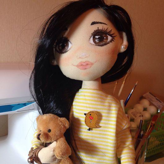 Коллекционные куклы ручной работы. Ярмарка Мастеров - ручная работа. Купить Текстильная кукла. Handmade. Комбинированный, текстильная кукла, микровельвет