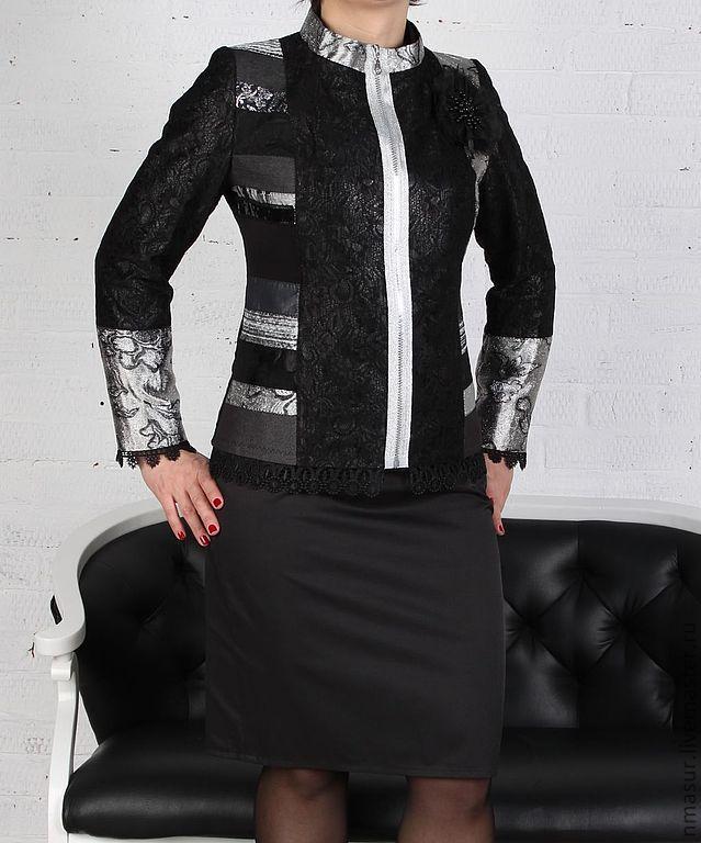 Авторская Куртка в стиле 'Пэчворк'