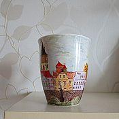 """Посуда ручной работы. Ярмарка Мастеров - ручная работа Чашка """"Пражские зарисовки"""". Handmade."""