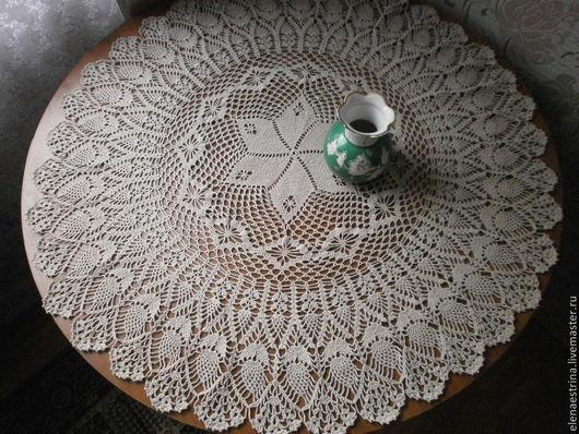 """Текстиль, ковры ручной работы. Ярмарка Мастеров - ручная работа. Купить Скатерть - салфетка, 96 см, """"Полевые цветы"""". Handmade."""