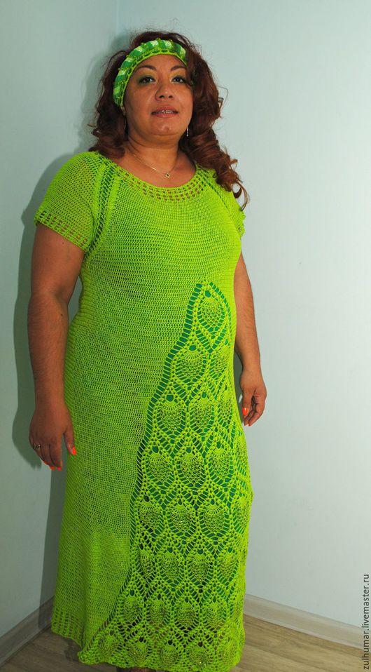 Платья ручной работы. Ярмарка Мастеров - ручная работа. Купить Платье зеленое. Handmade. Зеленый цвет, платье вязаное крючком