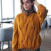 Одежда handmade. Livemaster - original item Sweaters: women`s knitted oversize sweater in mustard color. Handmade.