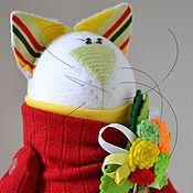 Куклы и игрушки ручной работы. Ярмарка Мастеров - ручная работа Кошка с котёнком.. Handmade.