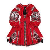"""Одежда handmade. Livemaster - original item Красное платье с клиньями """"Восточная Сказка"""". Handmade."""