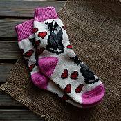 Аксессуары handmade. Livemaster - original item Socks positive fun patterned cats. Handmade.