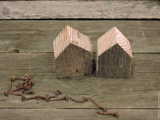 Элементы интерьера ручной работы. Ярмарка Мастеров - ручная работа. Купить Деревянные домики из столетнего бруска. Handmade. Подарок, серебряный