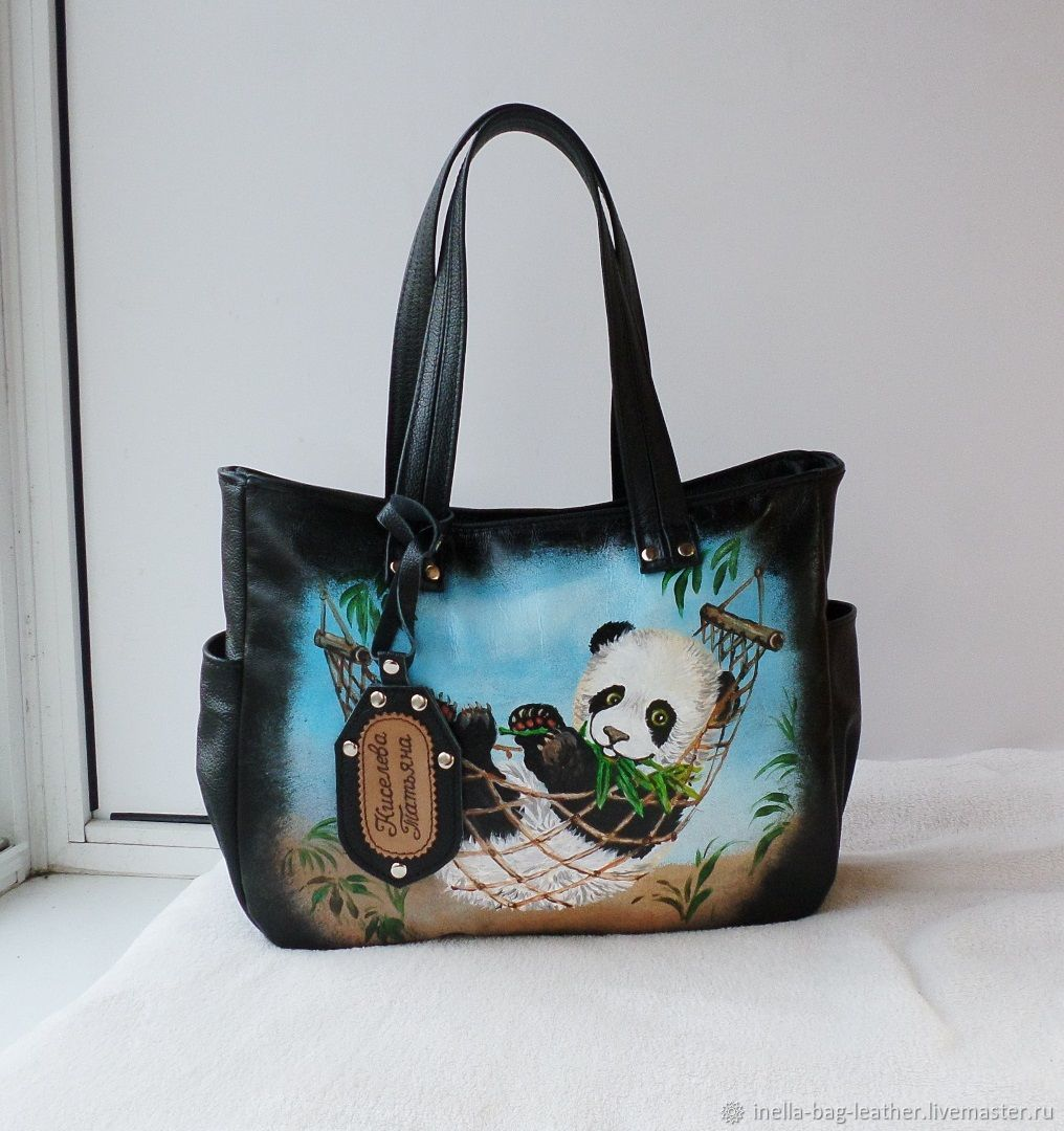 Leather women's bag with painting to order for Tatiana, Classic Bag, Noginsk,  Фото №1