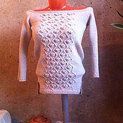 Одежда ручной работы. Ярмарка Мастеров - ручная работа Вязаная туника-платье с удлиненной спиной. Handmade.
