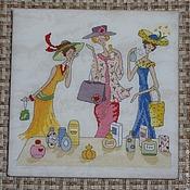 Картины и панно handmade. Livemaster - original item Panels: Girlfriends, series. Handmade.