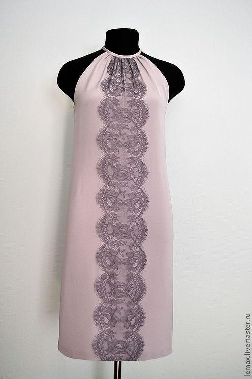 """Платья ручной работы. Ярмарка Мастеров - ручная работа. Купить Платье с кружевом """"Шантильи"""". Handmade. Серый, пошив, отделка"""