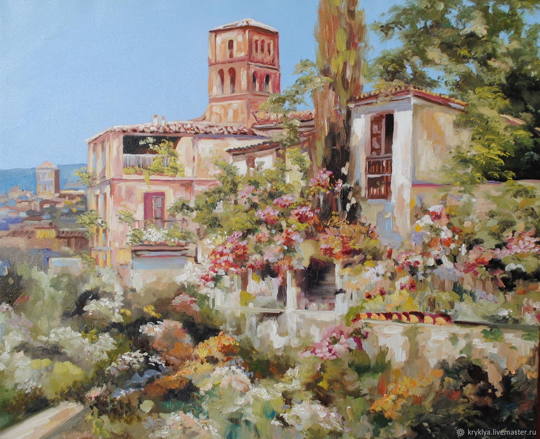 """Картина маслом """"Полдень на юге Италии"""", Картины, Таганрог,  Фото №1"""