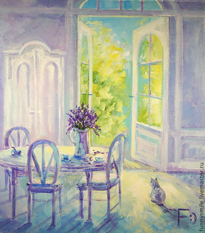 Oil painting on canvas. Morning in Provence, Pictures, Moscow,  Фото №1