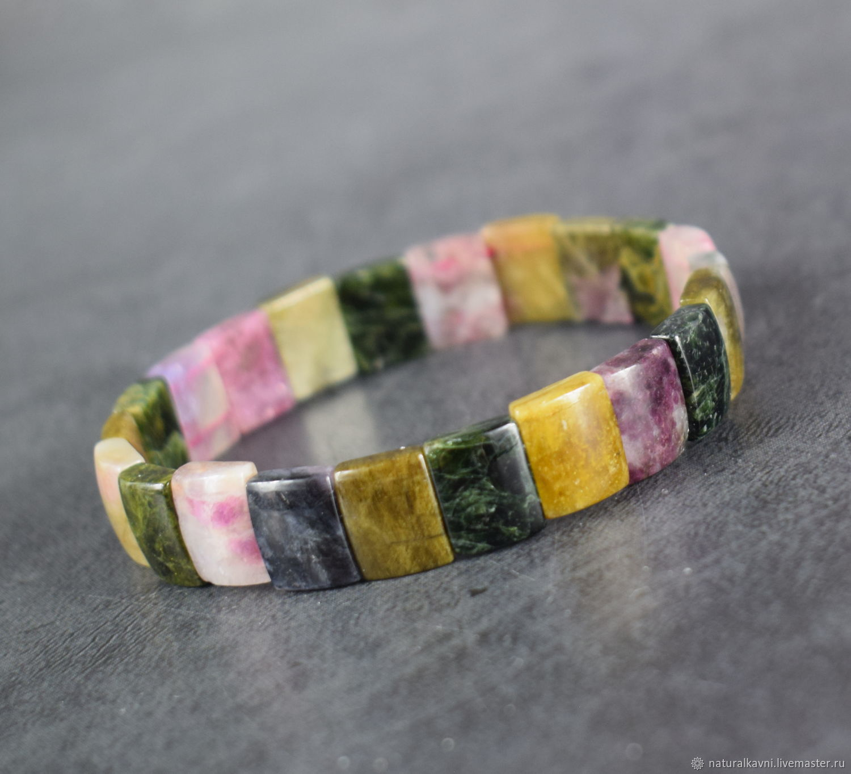 Bracelet natural stone tourmaline, Bead bracelet, Moscow,  Фото №1