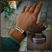 Украшения handmade. Livemaster - original item Leather bracelet unisex. Bracelet men. Silver bracelet.. Handmade.