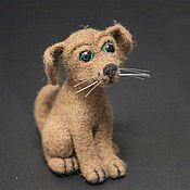 Куклы и игрушки ручной работы. Ярмарка Мастеров - ручная работа Валяная собака Шарик. Handmade.
